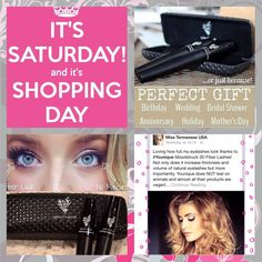 Good Morning Ladies! It's SATURDAY! And Saturdays are only good for one thing. SHOPPING! YAY! Whether you are out and about or shopping from the comfort of your own home. The perfect gift for YOU or anyone else is Younique's 3D Fiber Lash Mascara! Treat yourself to the BEST! You are worth it! It's only $29 and if you don't love it, you can return it within 14 Days for a full refund! Can your regular mascara do that? www.prissylashes.com