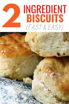 Biscuit Recipe With Self Rising Flour, Biscuits Self Rising Flour, Best Biscuit Recipe, Easy Biscuit Recipe 3 Ingredients, 2 Ingredient Biscuits, 2 Ingredient Recipes, Breakfast Dishes, Breakfast Biscuits, How To Make Biscuits
