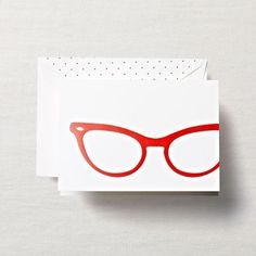 Cat Eye Glasses Note Card Set