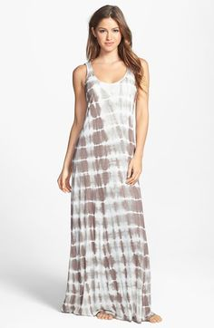 O'Neill 'Tietie' Tie Dye Knot Back Cover-Up Maxi Dress available at #Nordstrom