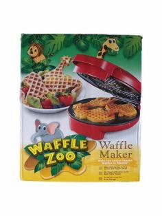 Amazon.com: Waffle Zoo Waffle Maker - Make Fun Animal Shaped Waffle in Minutes: Kitchen & Dining
