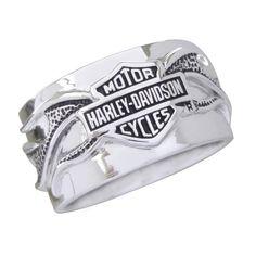 $119.95 Sterling Silver Harley-Davidson Men's Night Flame Ring https://www.facebook.com/photo.php?fbid=134208753431683=a.115237391995486.1073741828.115224581996767=1 #harleydavidsonroadkinggirls