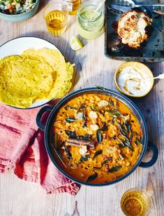 Cajun Delicacies Is A Lot More Than Just Yet Another Food Aubergine Dal With Crispy Cauliflower, Green Chutney, Dosa And A Crunchy Salad - The Happy Foodie Easy Vegetarian Dinner, Vegetarian Recipes, Dal Recipe, Green Chutney, Asian, Indian Food Recipes, Dinner Recipes, Easy Meals, Party Spread