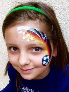The Mini-EM of the LKZ in Ludwigsburg on May 2016 and on May and 2016 . - For the Mini-EM of the LKZ in Ludwigsburg on May 2016 and on May and the mak - Eye Face Painting, Face Painting For Boys, Face Art, Bodysuit Tattoos, Football Face Paint, Easy Face Painting Designs, Costume Makeup, Henna Designs, Girl Face