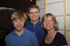 G-J Heins, pictured here with her husband, Steve, and son, Robert, blogs on Caregiving.com about caring for Steve, diagnosed in 2009 with a dementia-related illness.