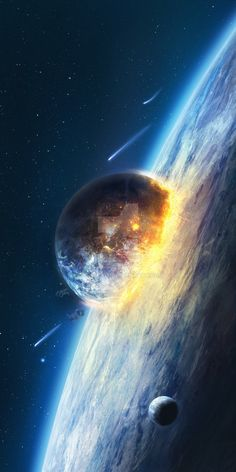 Doomsday by charmedy.devianta… on Doomsday from charmedy. Wallpaper Earth, Planets Wallpaper, Galaxy Wallpaper, Wallpaper Wallpapers, Black Wallpaper, Space Planets, Space And Astronomy, Universe Art, Sistema Solar
