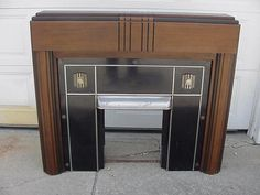 Vintage Art Deco Streamline Fireplace Mantel | eBay