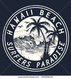 Hawaii vector illustration for t-shirt and other uses