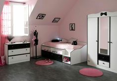 Chambre grise et fushia : Idées déco pour une chambre moderne ...
