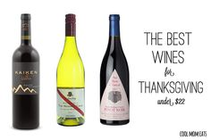 Helpful! Lots of options for red and white wines for Thanksgiving all under $22 | Cool Mom Eats