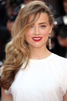 Amber Heard With Tousled Curly Hair At Cannes Film Festival 2014