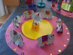 Idea storage: The circus world - every day kindergarten Circus Crafts, Circus Art, Circus Theme, Preschool Circus, Clown Cirque, Art Du Cirque, Easy Crafts For Kids, Projects For Kids, Art For Kids
