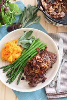 Beef Liver with Figs and Caramelized Onion   by Sonia! The Healthy Foodie