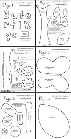 printable quiet book templates - Google Search
