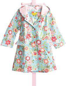 Pluie Pluie Blue Floral Unlined Raincoat by Pluie Pluie Rain Gear and Rain Coats $37.00