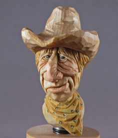 Stopper wine bottle wood carving cowboy by cjsolberg on Etsy