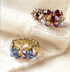 tons of great free beaded ring tutorials