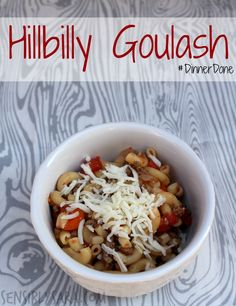 Hillbilly Goulash Recipe - Delicious, veggie filled meal in under 30 minutes! Easy Summer Meals, Easy Family Meals, Easy Weeknight Meals, One Pot Meals, Summer Recipes, Easy Dinner Recipes, Easy Meals, Dinner Ideas, Goulash Recipes