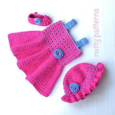 Crochet Pattern  Sandy Dress for baby girls  por nuttypatterns, $5.50