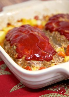 Mom's Meatloaf Recipe - comfort food at its best! This recipe makes 2 small loaves - serve one for dinner and serve the leftovers as sandwiches for lunch the next day.