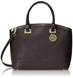 Anne Klein New Recruits Dome Large Satchel Bag, Black, One Size (Sponsored)