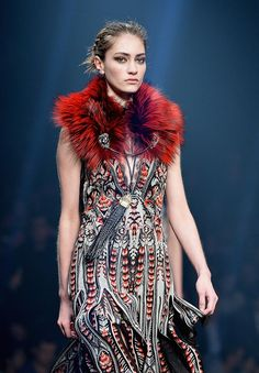 Roberto Cavalli's Hunger Games Fashion Show Was On Fire, Literally