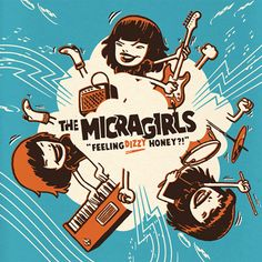 Album covers for The Micragirls. Design by Sami Vähä-Aho Feeling Dizzy, Album Covers, Feelings, Comic Books, Lp Vinyl, Comics, Movie Posters, Honey, Image