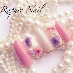 Beautiful Nail Designs, Beautiful Nail Art, Bridal Nails, Wedding Nails, Cute Nails, Pretty Nails, Jasmine Nails, Japanese Nail Art, Ideas Geniales