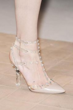 Real life Cinderella shoes from Valentino Spring / Summer 2013