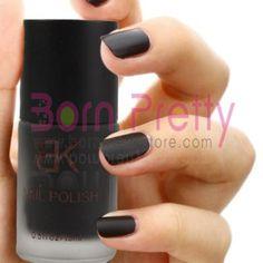 Black Color Matt Dull Polish Nail Enamel Nail Art Polish #15. For my new found love of black finger nail polish.