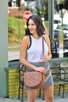 Free People Striped Mini Skirt and Tank Top - summer date night outfit ideas - My Style Vita /mystylevita/