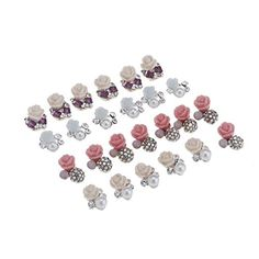 DIY Floral Metal Nail Art Tip Decals Decoration Mixed Color Flower Pattern Fashion Luxury Charm Jewelry Tools * Click image for more details.