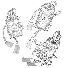Japanese Tattoo Symbols, Japanese Tattoo Designs, Japanese Tattoo Art, Japanese Sleeve Tattoos, Japanese Art, Japanese Style, Hannya Tattoo, 4 Tattoo, Irezumi Tattoos