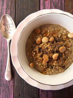 Gluten Free Grain Free Salted Caramel Porridge Recipe.