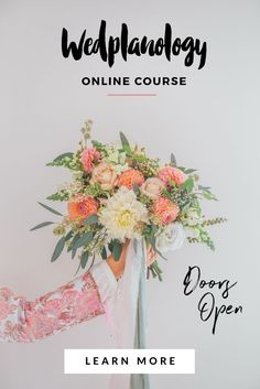 WEDPLANOLOGY: Online wedding planning course for brides-to-be.  Confidently create your dream wedding, in just 8 weeks!  LESS STRESS AND LESS GUESSWORK LED BY MICHELLE KELLY CREATIVE WEDDING PLANNER