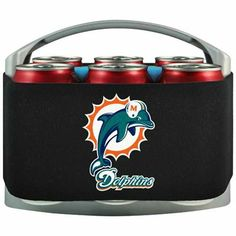 Miami Dolphins Cool Six Cooler - Black