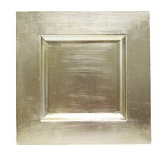 champagne square charger plate
