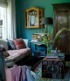 "This colourful living room is from our feature ""Full of Surprises"""