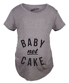 48e82d4f2dd1d Crazy Dog T-Shirts Maternity Baby Not Cake Funny Pregnancy Tees for Pregnant  Announcement Funny