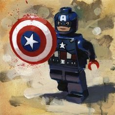 Captain America from James Paterson available now from Evergreen Art Cafe