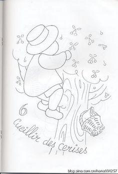 拼布紙型 la cueillette des cerises number 6