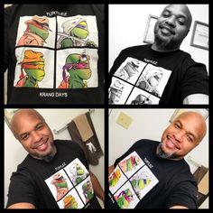 T-shirt of the day! Turtlez: Krang Days! #TSOTD #TMNT #gorillaz #mashup #ninjaturtles #leonardo #donatello #raphael #michaelangelo #tshirtassassin