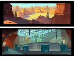 Angry Birds Toon Star Wars Environment Concepts ~by Jean Michel Boesch