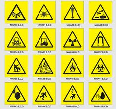 health and safety signs and symbols | Science Safety Symbols And Meanings Hazard symbols are used to