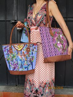 Items Similar To Jazuli Designs New Tote Bags Gorgeous Authentic Guatemalan Textiles Quality Leather Finishes On Etsy