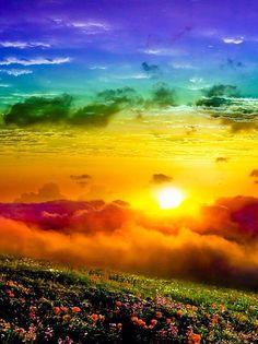Beautiful rainbow scenery