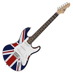Guitarra Eléctrica LA de Gear4music Union Jack 99+15=114€