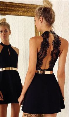 Black dress homecoming ideas42