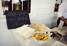 Grilled Cheese Bar! #Weddings #Foodbars #Graduation Party