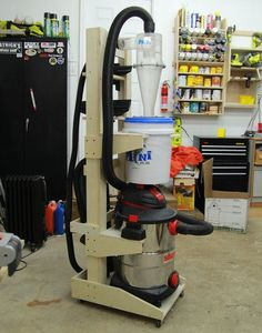 Vertical Shopvac & Cyclone Cart